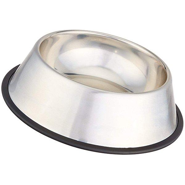 amazonbasics stainless steel dog bowl - best stainless steel dog bowls
