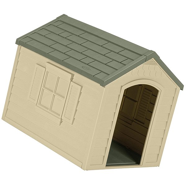 suncast outdoor dog house with door - best insulated dog house