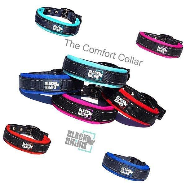 black rhino - the comfort collar ultra soft neoprene padded dog collar - best wide dog collars
