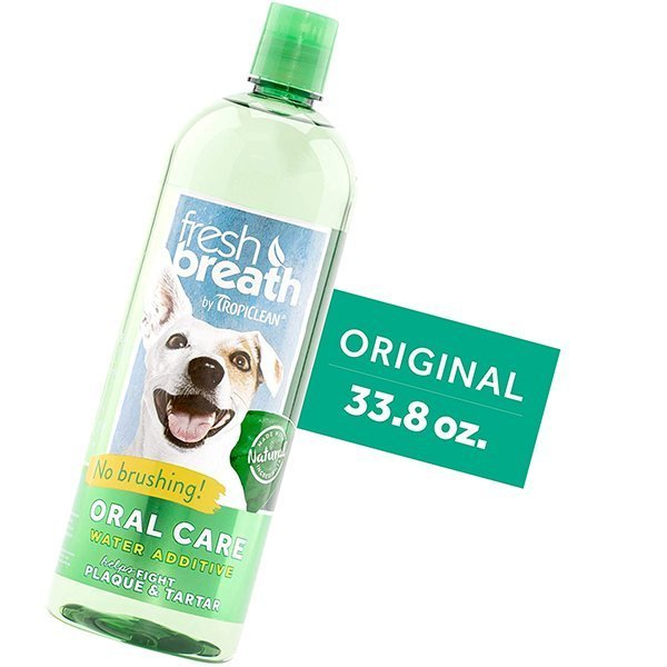 fresh breath by tropiclean oral care water additive for pets - best dog breath spray