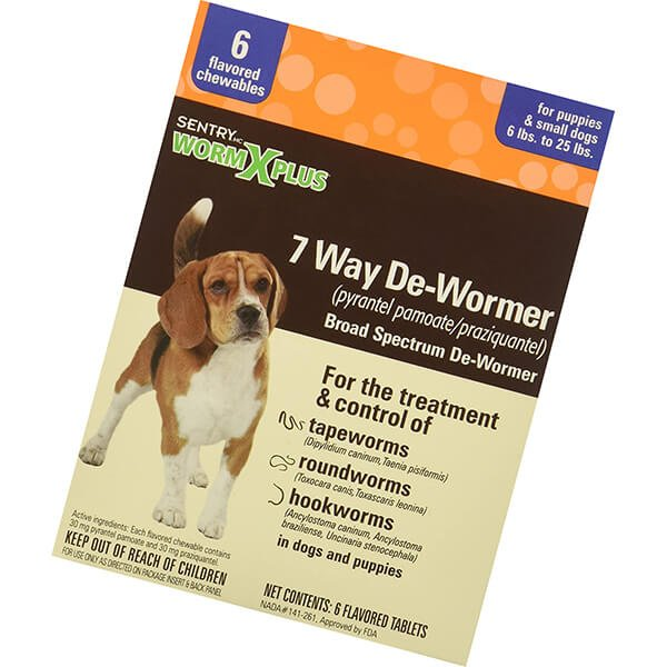 sentry worm x plus 7 way dewormer small dogs - best dewormer for dogs