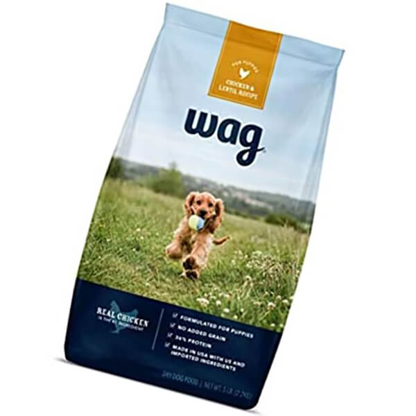 amazon brand - wag dry dog/puppy food - best puppy food