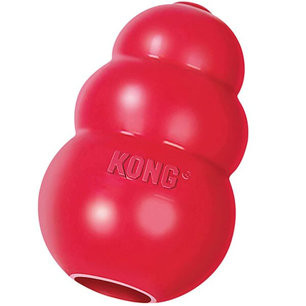 kong - classic dog toy durable natural rubber - best dog toys