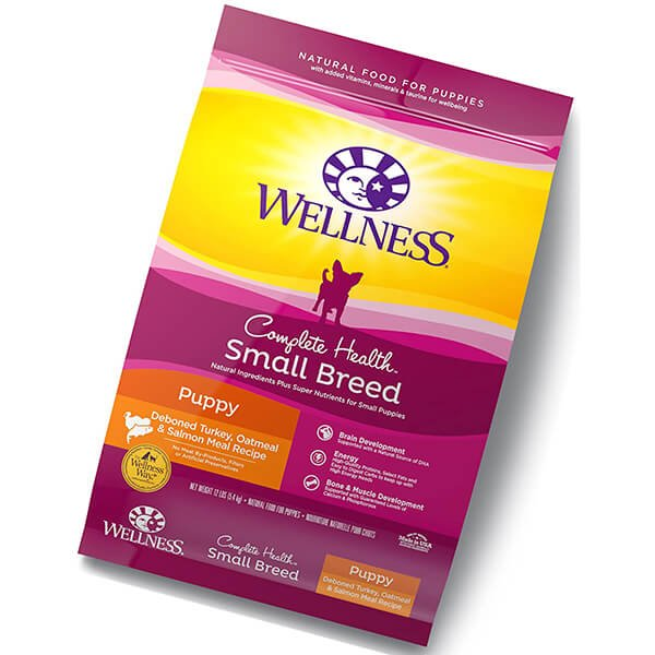 wellness complete health natural dry small breed dog food small breed puppy turkey - best puppy food