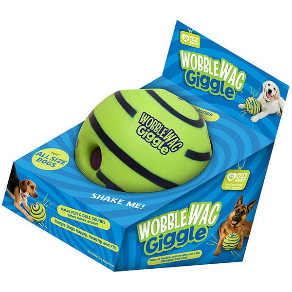 wobble wag giggle ball - best dog toys