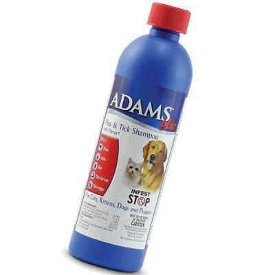 adams plus flea & tick shampoo with precor - best flea shampoo