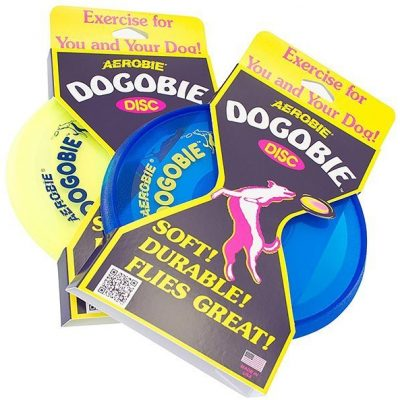 aerobie dogobie disc outdoor flying disc for dogs - colors may vary - best dog frisbee