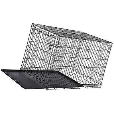 amazonbasics single-door & double-door folding metal dog or pet crate - best large dog crates