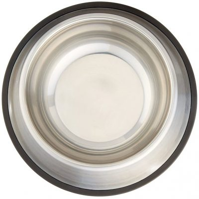 amazonbasics stainless steel dog bowl - best stainless steel dog bowls