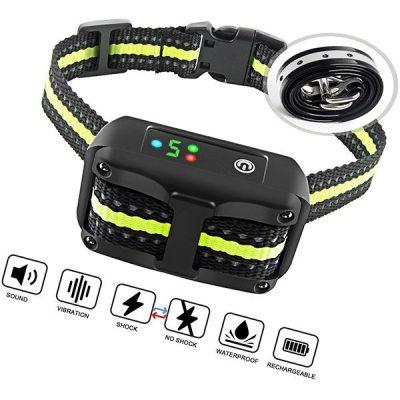 authen bark collar barking control training collar with beep vibration and no harm shock - best stop bark collars
