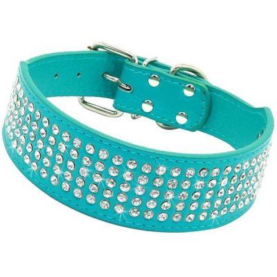 berry pet beirui rhinestones dog collars - best wide dog collars