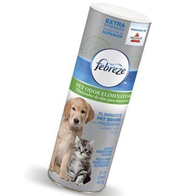 bissell febreze extra strength pet odor eliminator room & carpet deodorizing powder endorsed - best pet odor remover