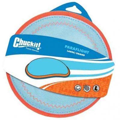 chuckit paraflight flyer dog toy large - best dog frisbee