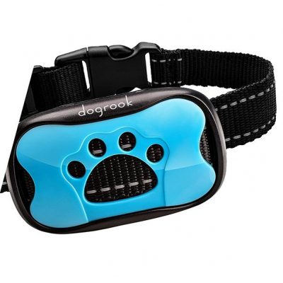 dogrook rechargeable dog bark collar - best bark collar for small dogs