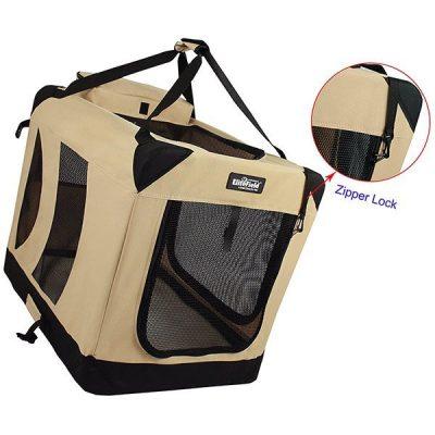 elitefield 3-door folding soft dog crate - best indoor dog kennels