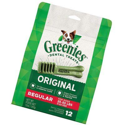 greenies original regular natural dental dog treats - best dog treats