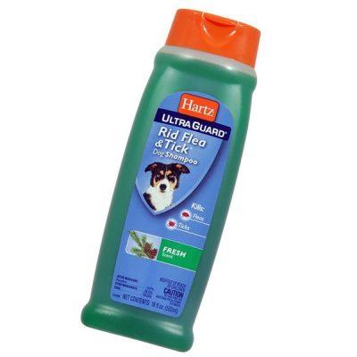 hartz ultraguard fresh scented rid flea & tick dog shampoo - best flea shampoo