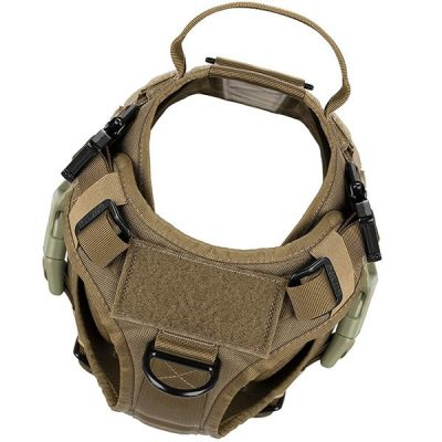 icefang tactical dog harness with 2x metal buckle - best escape proof dog harness