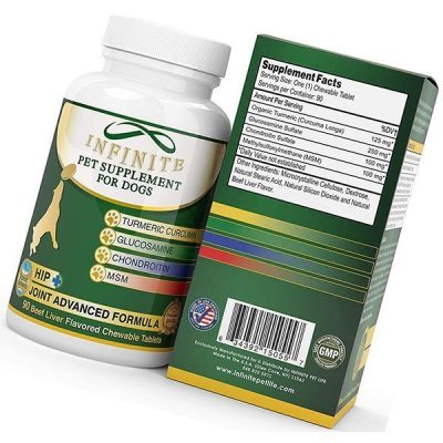 infinite pet supplements all-natural hip & joint supplement for dogs - best dog joint supplements