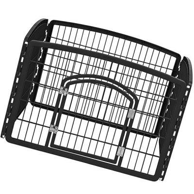 iris 24 exercise 4-panel pet playpen with door - best portable dog fence