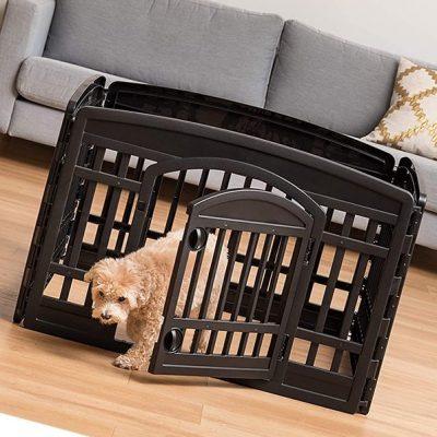 iris usa 24 exercise playpen panels for dog - best portable dog fence