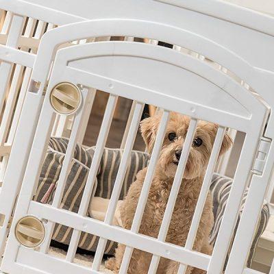 iris usa (586680) 24 4 panel exercise pet playpen with door - best dog crate