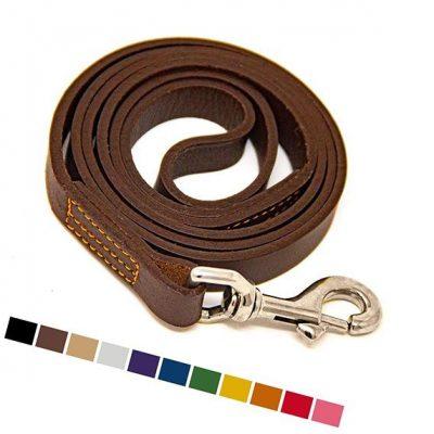 logical leather dog leash - best leather dog leash