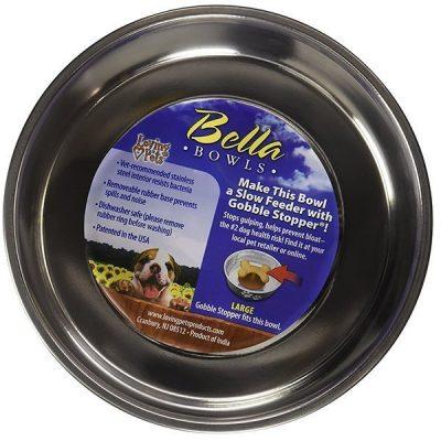 loving pets bella bowl - best stainless steel dog bowls