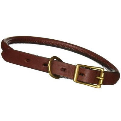 mendota rolled leather dog collar - best rolled leather dog collars