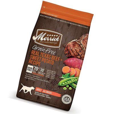 merrick grain free dry dog food recipe - best grain free dog food