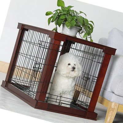 merry products pet cage with crate cover - best wooden dog crates