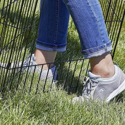 midwest homes for pets folding metal exercise pen - best portable dog fence