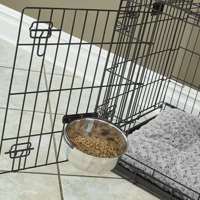 midwest homes for pets snap'y fit stainless steel food bowl - best stainless steel dog bowls