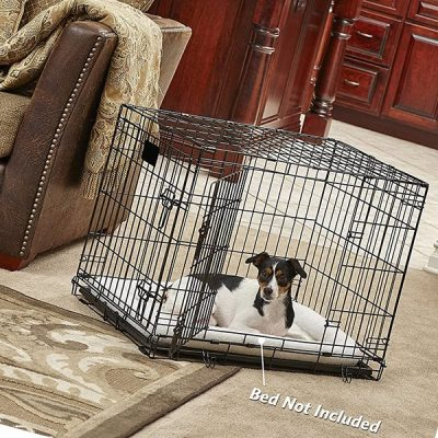new world folding metal dog crate single door & double door dog crates - best large dog crates
