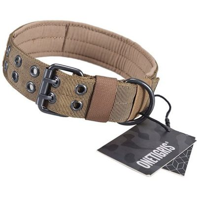 onetigris military adjustable dog collar with metal d ring & buckle 2 sizes - best wide dog collars