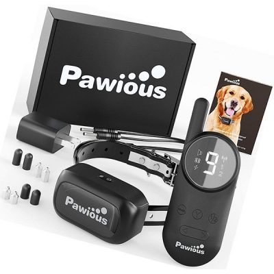 pawious dog training collar with remote - best vibrating dog collar