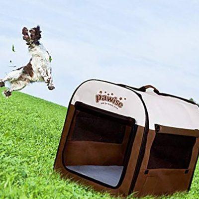 pawise portable soft dog crate folding pet kennel - best indoor dog kennels