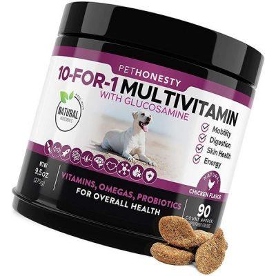 pet honesty 10 in 1 dog multivitamin with glucosamine - best dog vitamins