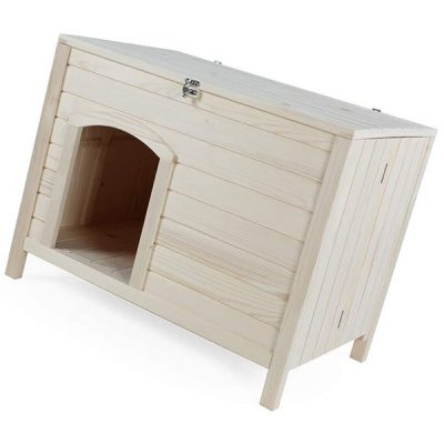 petsfit portable wooden dog house - best insulated dog house
