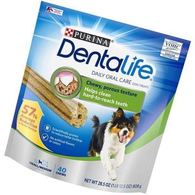 purina dentalife small/medium adult dog treats - best dental chews for dogs