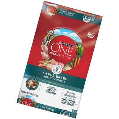 purina one smartblend natural puppy dog food - best large breed puppy food