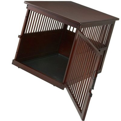 richell wooden end table crate large - best wooden dog crates