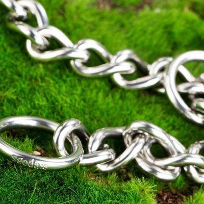 sgoda chain dog training choke collar - best chain dog collar