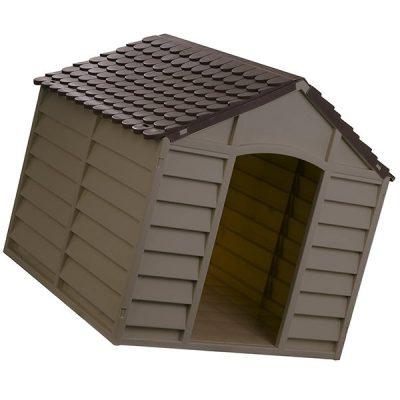 starplast mocha / brown large dog house - best insulated dog house