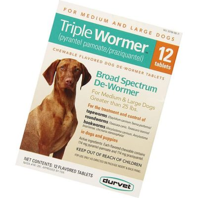 triple medium and large dog wormer - best dewormer for dogs