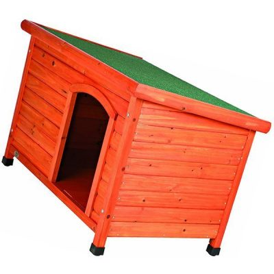 trixie classic outdoor wooden dog house - best insulated dog house