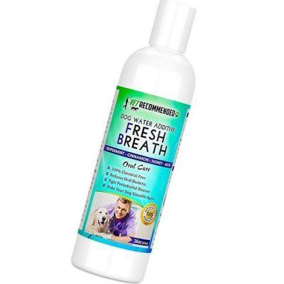 vet recommended dog breath freshener water additive for pet dental care - best dog breath spray
