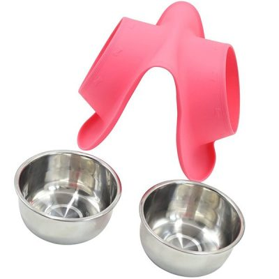 vivaglory dog bowls stainless steel water and food feeder - best stainless steel dog bowls