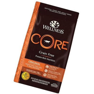 wellness core high protein grain free natural adult dry dog food - best grain free dog food